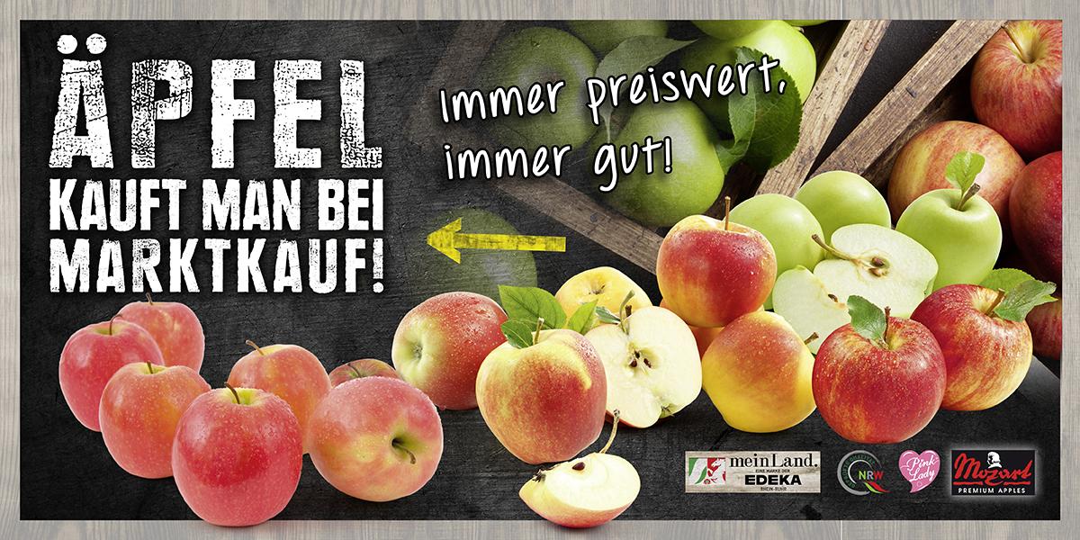 Äpfel kauft man bei MARKTKAUF